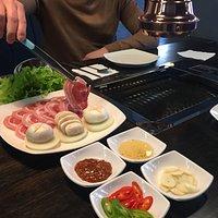 самостоятельная жарка мяса самгепсаль