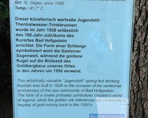 Beschreibung der Geschichte des Thermalwasserbrunnens