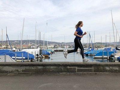 Running next to lake zurich