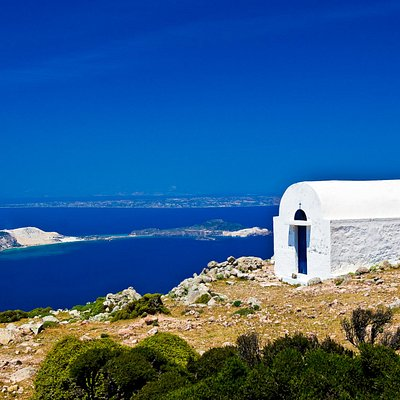 The chapel of Profytis Ilias, the highest point of the island