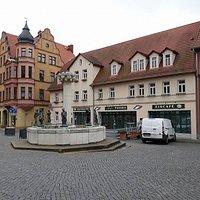 Knappenbrunnen, Lutherstadt Eisleben, Alemania.