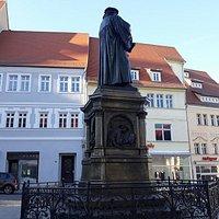 Lutherdenkmal, Lutherstadt Eisleben, Alemania.