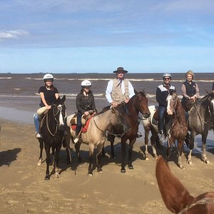 Our beatiful team of Criollos and the River Plate coast breathtaking nature!