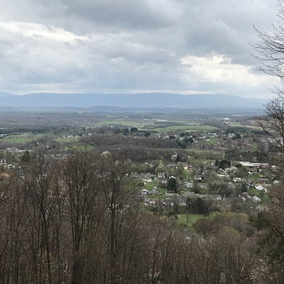 View from the top of Betsy Bell. You can drive, hike or bike to the top.