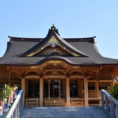 再建された本殿