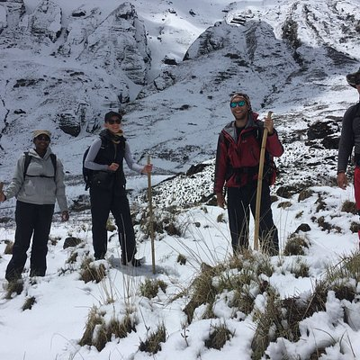 Jorge and Team from New Zealand during Annapurna Base Camp Trek in May 2018 with Nepal Mountain