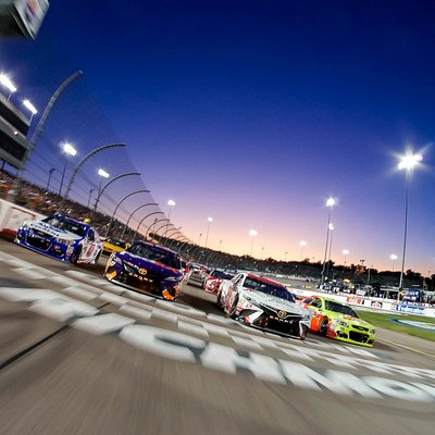 Richmond Raceway's Four-Wide Salute prior to 2017 Federated Auto Parts 400