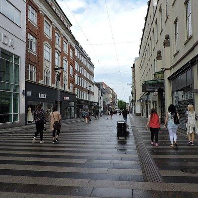 Stroeget, Aarhus, Dinamarca.