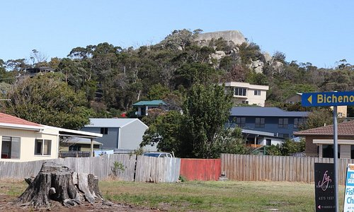 The Lookout Rock State Reserve from the city