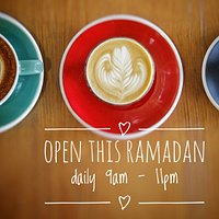 open daily this Ramadan, serving up our usual delicious pastries and light meals