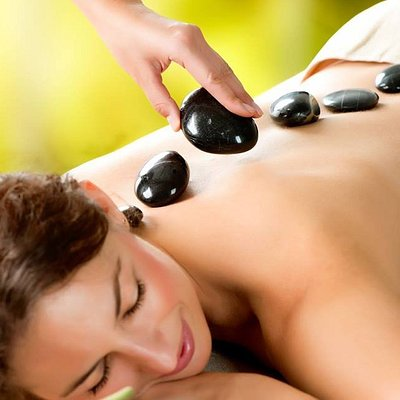 Hot stone massage - so relaxing!