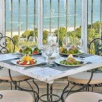 Early dinner in the terrace of restaurant Ciel Bleu