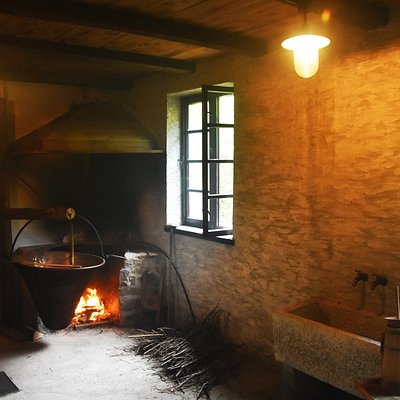 Cooking in little cottages of farmers in the local mountains in Soča valley