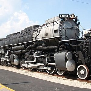 """Union Pacific Railroad #4006, known as """"Big Boy,' is the world's largest successful steam locomo"""