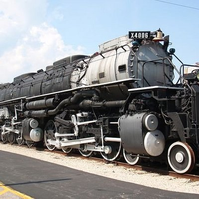 "Union Pacific Railroad #4006, known as ""Big Boy,' is the world's largest successful steam locomo"