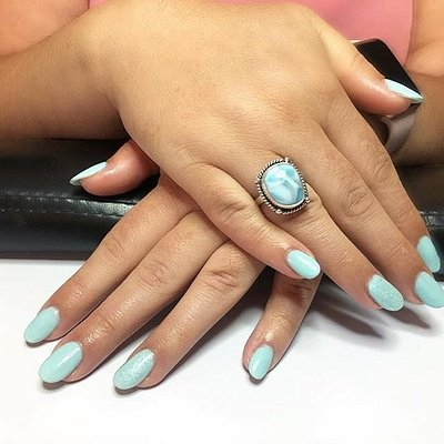 Acrylic refills with OPI GelColor 'Gelato on My Mind'