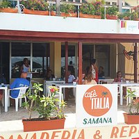 Cafe Italia - Where to Eat on Waterfront of Samana Dominican Republic