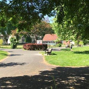 Path across park