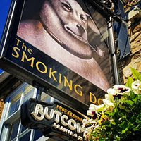 The Smoking Dog pub sign