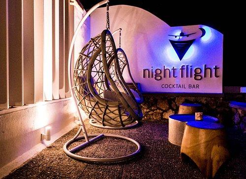 Night Flight Cocktail Bar - Restaurant, the sign