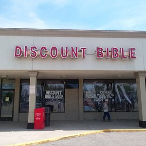 Exterior of the Discount Bible Book and Music Store.