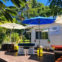 Come enjoy a delicious coffee and Korotogo sunshine on our plantation style deck