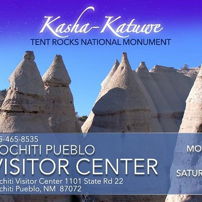 The Cochiti Visitor's Center Gift Shop has Kasha-Katuwe Tent Rocks Sourvenirs and native art