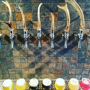 Beer lineup at the tasting room