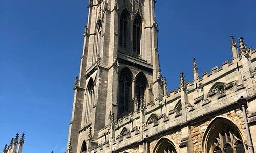 The lovely church tower and spire