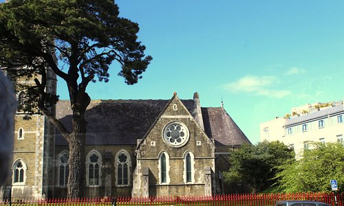 The view of St. Mary's from our room in the Killarney Plaza Hotel. Its entrance is to far the le