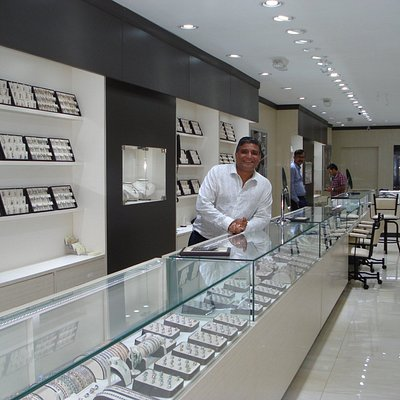 VJ in Infinity Jewellers new location on Front Street.