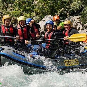 Rafting trip on the Soca river
