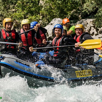 Rafting trip on the Soca river