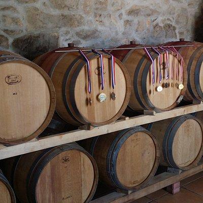 Barrels and medals