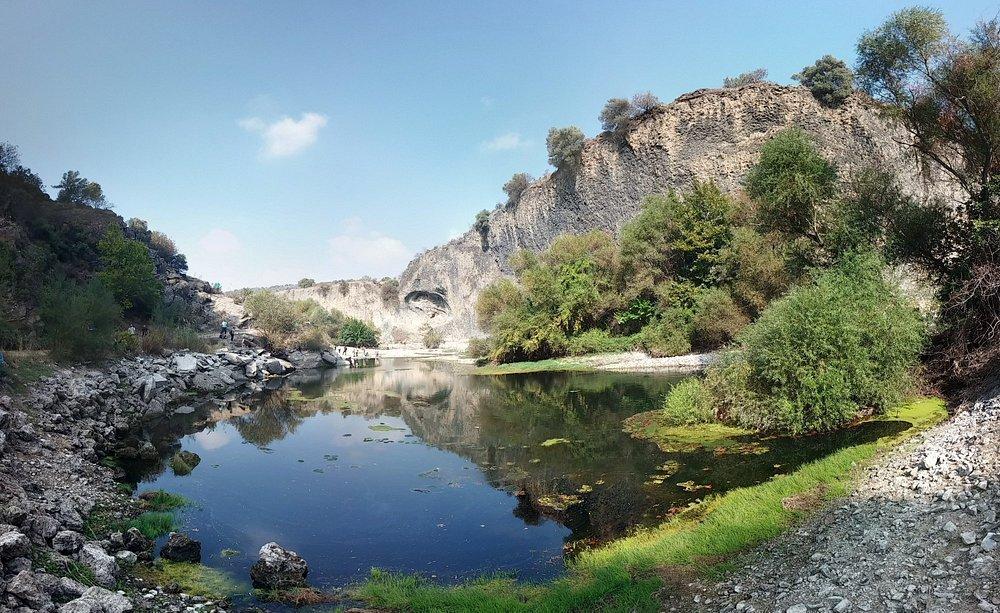 Kanyon içerisinden panaromik bir fotoğraf