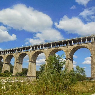 Viadotto Soleri a Cuneo, visto dal fiume Stura