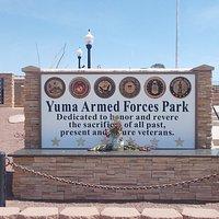 Yuma Armed Forces Park, Yuma, Arizona.