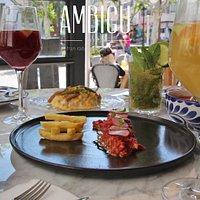 Drinks and food menu Ambigu Ibiza