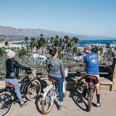 enjoying the view on a bike tour!