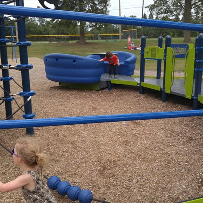 Playground with new equipment.