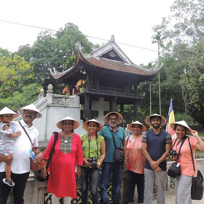 Mr Sasi and group in Hanoi Complex