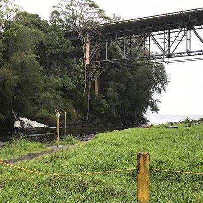 Hawaii Belt Road bridge over Kolekole Park north of Hilo