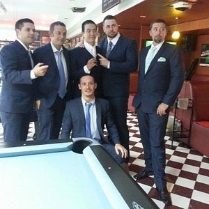 Perfect groom and groomsmen suit from us
