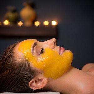 Fresh mango facial treatment