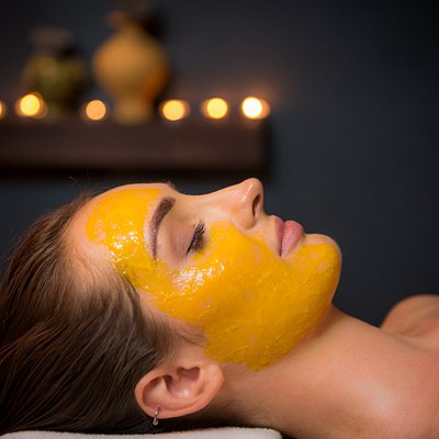 Fresh mango facial treatment