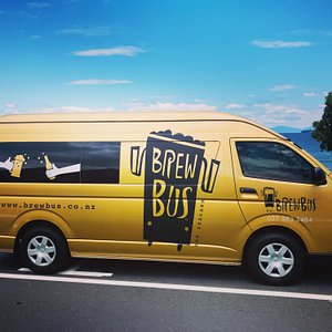 Our maiden Brewbus on the shores of Lake Taupo.