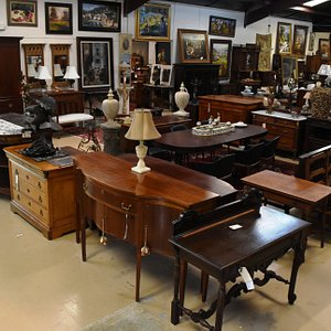 We have a huge selection of antique furniture-sideboards, chests, tables, cabinets-16,000 sq ft
