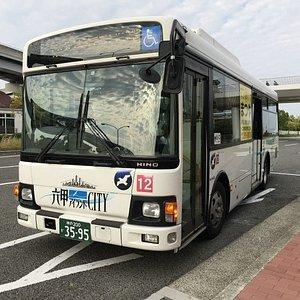 六甲アイランドから御影方面に向かうバス