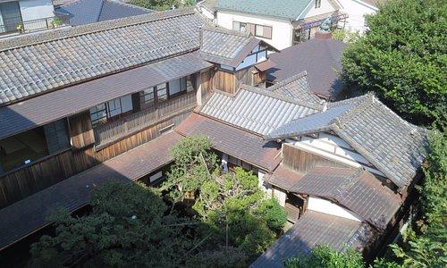 屋上庭園から見た建物