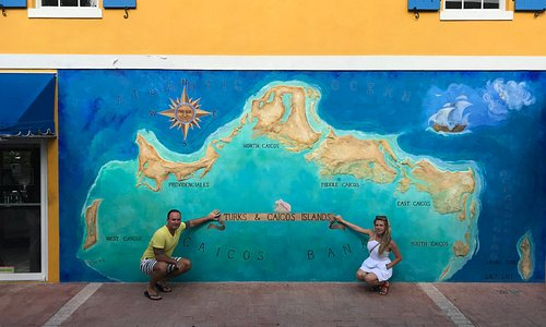 Turks and Caicos Map Mural